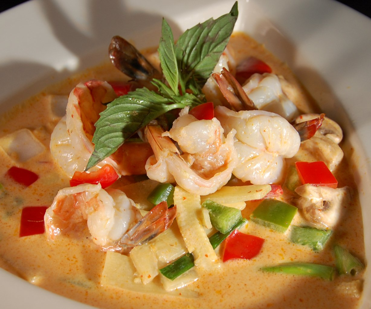 Red Curry with Shrimp